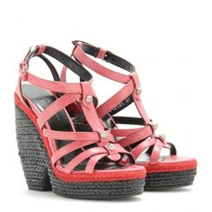Balenciaga Trainer Espadrille Wedge Sandals