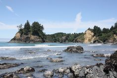 This is beautiful Trinidad, California just a few feet away from the Humboldt State University Marine Laboratory where you can see my friend, the octopus.