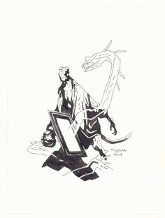 Mignola 2019 Comic Book Artists, Comic Books, Mike Mignola Art, Drawing Reference, Character Inspiration, Comic Art, Concept Art, Pin Up, 1