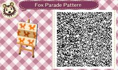 "fox-teeth: "" Here's a collection of fox-themed Animal Crossing patterns, consisting of a cute winter-appropriate outfit and a repeating pattern for furniture. This was my first time making any..."