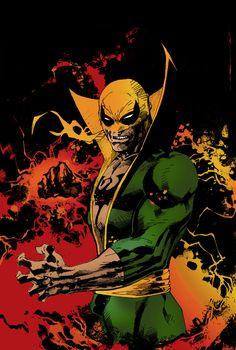 Marvel Comics Art, Marvel Fan, Marvel Heroes, Iron Fist Comic, Iron Fist Marvel, Comic Book Artists, Comic Books Art, Comic Art, Psylocke