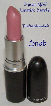 MAC Lip Stick Sample - Snob - A Ladylike Mauve (Satin)  thebodyneeds2.com  $3.79