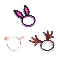 Animal Rings Set Of Three now featured on Fab.