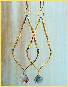 Make these beautiful gold earrings! Visit http://www.ninadesigns.com/jewelry_design_ideas/gold_spacer_bead_earrings.html for a materials list and tips for great results.