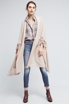 Slide View: 2: Fringed Cashmere Wrap Scarf