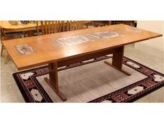 Dining Table w/ Design and 2 Leaves