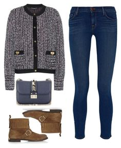 """Untitled #301"" by kholli-1 ❤ liked on Polyvore featuring Salvatore Ferragamo, Burberry, Valentino and J Brand"