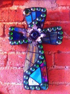 Medium Mosaic Cross by 818Tulsa on Etsy, $84.00