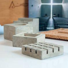 #Ando #Concrete #Cork #DeskOrganizer #Present Ando. Concrete Desk Organizer, Cork, Present.