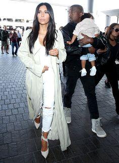 WHO: Kim Kardashian West WHAT: J Brand jeans WHERE: Los Angeles International Airport WHEN: April 7, 2015