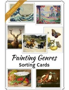 Teach your Child about genres of painting! Support the art appreciation. Material features 6 painting genres and paintings that correspond to them. There are animal paintings, genre paintings, still life paintings, history paintings, portrait paintings and landscape paitings.Paintings are carefully choosen to appeal to Children.