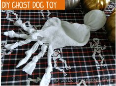 DIY Ghost Dog Toy for Halloween