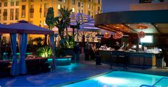Solamar - A Kimpton Hotel, San Diego Orbitz - fly from Detroit, $1,000 per person June.  Rooftop pool!