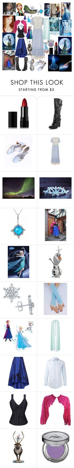 """""""Frozen"""" by fandom-girl365790 ❤ liked on Polyvore featuring Once Upon a Time, Merida, Serge Lutens, Bettie Page, RED Valentino, Stephen Webster, Disney, York Wallcoverings, Elie Saab and NOIR Sachin + Babi"""
