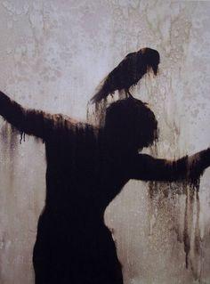 I dig dark gloomy creepy art. Arte Horror, Horror Art, Dark Fantasy, Fantasy Art, Urbane Kunst, Arte Obscura, Art Et Illustration, Amazing Art, Awesome