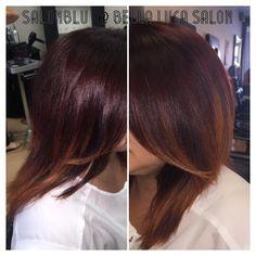 More red ombrés!! #loveombre #ombre #BellaBlu4Hair #cutandcolor #HairByApril SalonBlu @ Bella Luca Salon