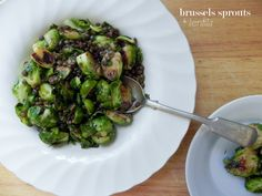 Porteño Pan-fried Brussels Sprouts with Lentils