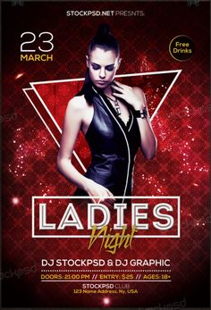 Ladies Night 2017 – Download Free PSD Flyer Template - Free PSD Flyer - Download Free PSD Mockup Flyers, Posters & Business cards