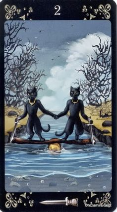 2 of Swords - Black Cats Tarot - rozamira tarot - Picasa Web Albums