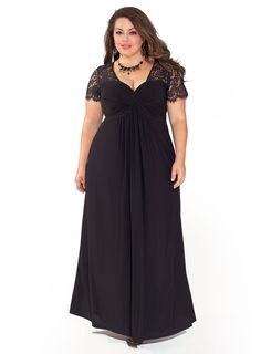 1940s style cocktail dress. Monica Gown in Black and in plus sizes. $238.00 AT vintagedancer.com