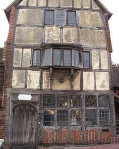 Elizabethan building in Ditchling High Street, Sussex, UK