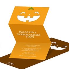 pumpkin party invite                                                                                		                                    		      	                                                                                                	  		Pumpkin Cut-out -- Creative Halloween Party Invitations