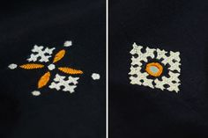 Hand Embroidery Dress, Embroidery Works, Indian Embroidery, Hand Embroidery Designs, Cross Stitch Embroidery, Embroidery Patterns, Kutch Work Saree, Kutch Work Designs, Thread Art