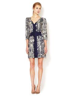 Printed V-Neck Dress   Tracy Reese at Gilt