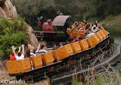 """Hang on to your hats and glasses folks! 'Cause this here's the wildest ride in the wilderness""! Big Thunder Mountain Railroad at Magic Kingdom in Walt Disney World!  MouseTalesTravel.com"