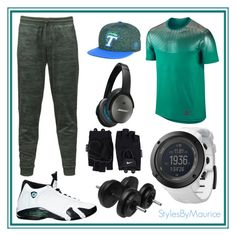 """""""Men Workout/Lounge Gear"""" by mauricee-brewer on Polyvore featuring NIKE, The North Face, Top of the World, Bose, Suunto, men's fashion and menswear"""