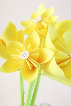 Yellow Paper Flower Assortment bouquet by DanasPaperFlowers,
