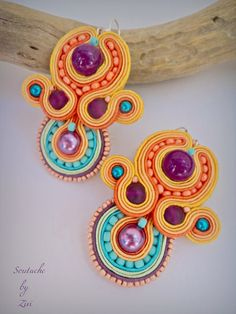 El Rinconcito de Zivi: pendientes de soutache, pendientes flamenca soutache, bisuteria soutache- soutache earrings, soutache jewelry