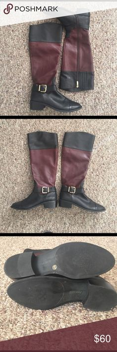 Authentic Vince Camuto Riding Boots: Leisha Authentic Vince Camuto Two Toned Riding Boots. Amazing condition. leather. size 8M/38. Style name: Leisha Vince Camuto Shoes