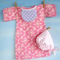 Baby Doll Nightgown  Dress Bonnet and Bib Epattern from SewBaby.com