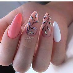 The Best Nail Art Designs – Your Beautiful Nails Cute Nails, Pretty Nails, My Nails, Perfect Nails, Gorgeous Nails, Nail Manicure, Nail Polish, Gel Nail, Bright Summer Nails