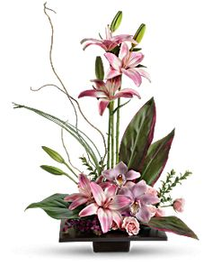 Imagination Blooms with Cymbidium Orchids Flower Arrangement - Teleflora #Arreglosflorales