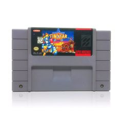 Tin Star SNES Super Nintendo game, includes cartridge only. Cleaned, tested and comes with a FREE cart protector! Super Nintendo Console, Super Nintendo Games, Tin Star, Entertainment System, Nintendo Consoles, Games To Play, Stars, Wild West, Robots