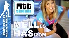 Béres Alexandra - YouTube Hip Workout, Workout Guide, Wellness Fitness, Health Fitness, Zumba, Fat Burning, Pilates, Gymnastics, Exercise