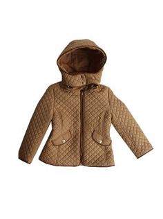 Chloe kids girls caramel tanned quilted jacket