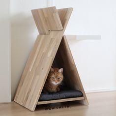 Al eerder schreef ik over hippe kattenmeubeltjes. Want krabpalen zijn over het algemeen lelijk en niet stylish verantwoord. Onlangs kwam ik deze DIY tegen, een katten tipi! Deze wilde ik maar al te graag maken. Het is snel klaar en kost weinig geld. Je hebt nodig: 3 delen hout. 2 delen van 80×40 cm en …