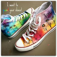 My friend Melsha​ has reminded me that there are only 15 more Saturdays until Christmas, so here is a great gift idea, nice 'n early! <3 I will paint your Converse (or other white canvas shoes) ...