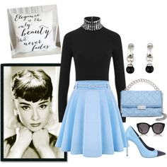 Audrey Hepburn Inspired! by briannaandrews500 on Polyvore featuring Alexander Wang, Yves Saint Laurent, STELLA McCARTNEY, Tiffany & Co., CÉLINE, Amanti Art, women's clothing, women's fashion, women and female