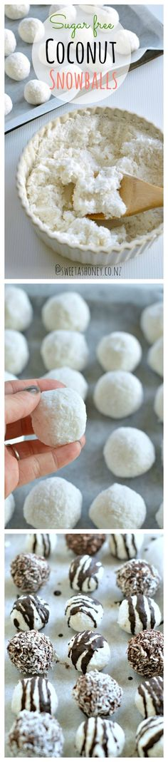 These GF, sugar free coconut snowballs make a great Christmas treat that everyone can enjoy :-)