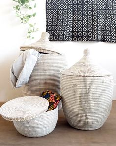 African laundry basket can hold many of dirty clothing. Storage baskets from modecorarts are affordable. Home Decor Styles, Home Decor Accessories, Home Decor Items Online, Laundry Hamper, Laundry Room, Basket Weaving, Woven Baskets, Recycled Materials, Storage Baskets