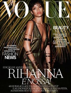 #Rihanna by #MarianoVivanco for the cover of #VogueBrazil May 2014