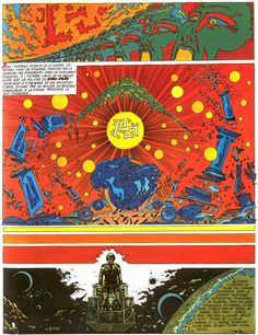 comic art by Philippe Druillet - would make a great frame background! so vibrant and beautiful!