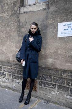 Midnight Blue Coat, Ann Demeulemeester Show