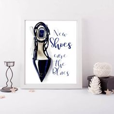 Shoe Fashion Quote Christian Dior Print Fashion by ChezLorraines