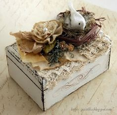 Altered box...love the bird and nest.