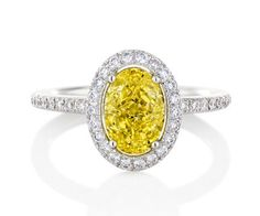 Aura Yellow Oval Diamond Ring.. Beautiful